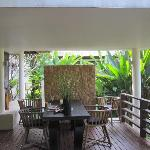 Private balcony at Timor Villa