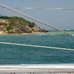 View from the catamaran
