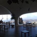 The view from the bar cafe at Mirador del Rio