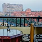 City View Hotel: outside breakfast table