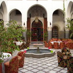 Open courtyard for meals