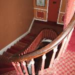 Steep staircases to guestrooms