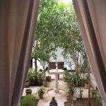 courtyard view from garden room