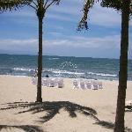 Wedding set-up on Beach.