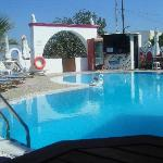 Pool area and TINY bar