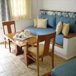 Separate sitting area room
