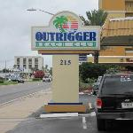 Front entrance to Outrigger