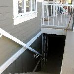 Stairs/separate entrance to the basement