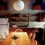 We have a large kitchen with abundant seating