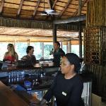 The bar at Tree Lodge - stunning