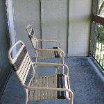 "Our ""deluxe"" balcony chairs"