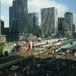 View of Tokyo Station and Marunouchi from lobby