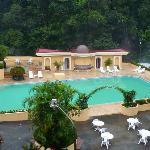 Área de la piscina, el sauna y los jacuzzis