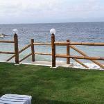 Scaletta accesso diretto al mare dal giardino privato