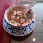 The soup that is served with the lunch specials