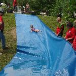 Slip-n-slide in Boo Boo's Meadow