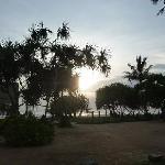 Sicht aus Anlage auf Strand