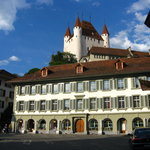 Schwert Thun is right off this beautiful town square