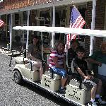 The golf-cart tour