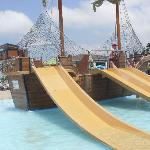 Kids pool pirate ship