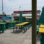 Exterior dining area at Ed's Crabs