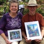 Paul Alico (street artist) & his wife--talented guy, buy his stuff if you run in to him.