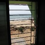 View from the first room's window, notice the sea next to it