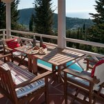 Idilli Villas Lefkada large villa with infinity private pool for 6 persons, balcony view...!!!