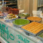 another photo of my favorite baklava shop - get the pistachio one - it's the best!