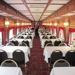 Inside dining car 777