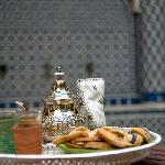 Un thé dans le patio