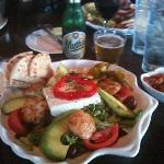 Greek Salad with Scallops
