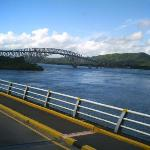 view of Leyte province from the bridge