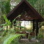 Pavillions im Garten