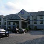 Die Außenansicht des Hotels