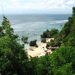 Padang Padang Beach sur du pont