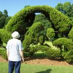 One of the topiary pieces