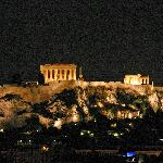 The night view of The Acropolis from our room
