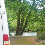 My RV watching the creek