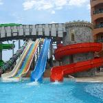 The waterslides