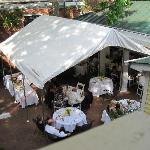 patio set for wedding