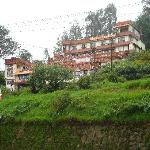 Hotel Darshan- view from the approach road to Ooty Lake.