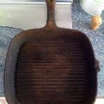 The frying pan. Do you want to make scrambled eggs in there?