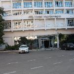 Inngangspartiet på hotellet