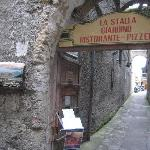 Entrance to the little street where TavernAllegra is located