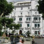 The front of the hotel - the restaurant has great views from the top floor