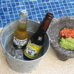 5 pm treat: chips, guac and beer