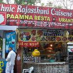 traditional food from Rajasthan @ rajasthan food stall