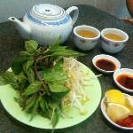 Free extras: vegies, sauces, hot asian tea