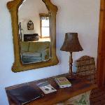 Adobe Cottage: detail inside
